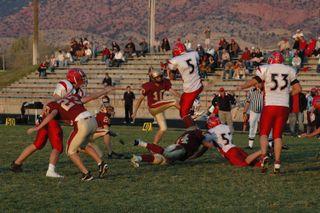 17 Year Old Scott Kicking for Cedar High School in a Playoff Game